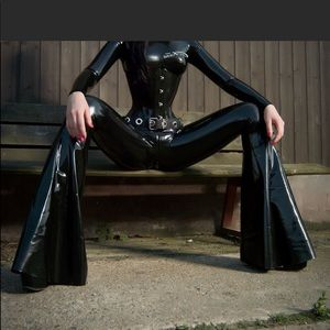 Other - Corset patent leather vinyl black stretch sexy